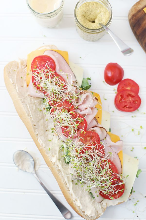 A Make Your Own Sub Bar | Entertaining tips, football party ideas and more from @cydconverse