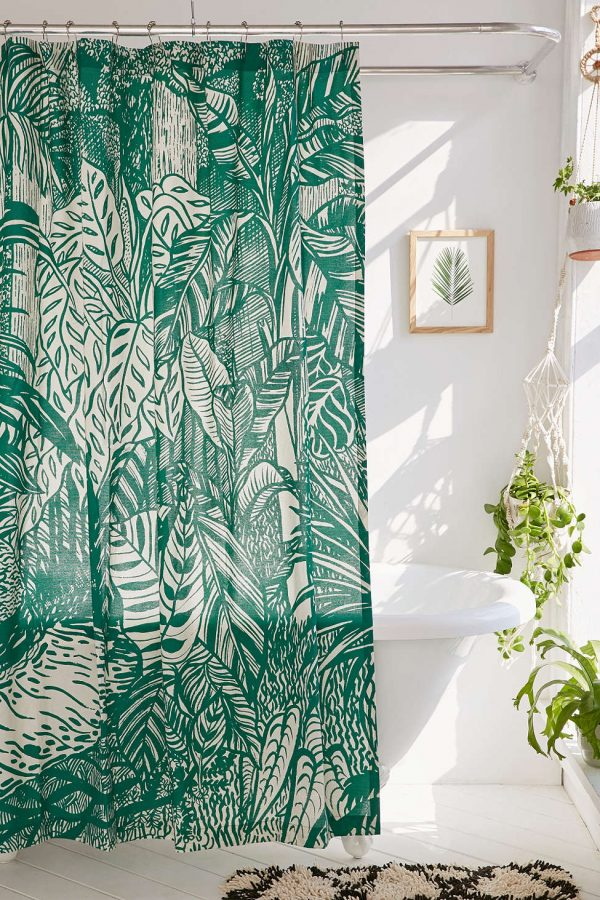 Pomeroy Plants Shower Curtain | Pretty shower curtains and more home decor ideas from @cydconverse