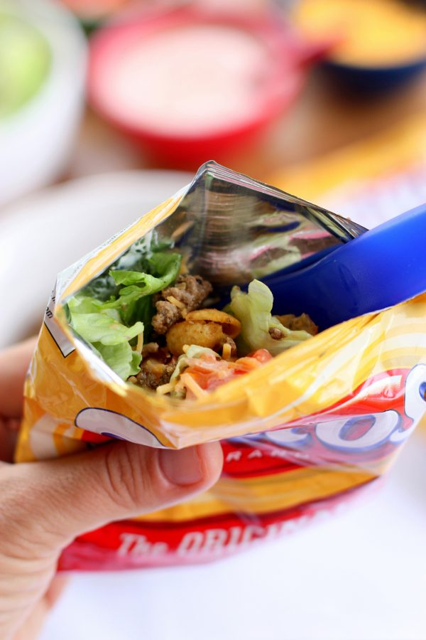 Walking Tacos with Fritos | 12 Delicious Camping Recipes from @cydconverse plus camping tips and a camping packing list!