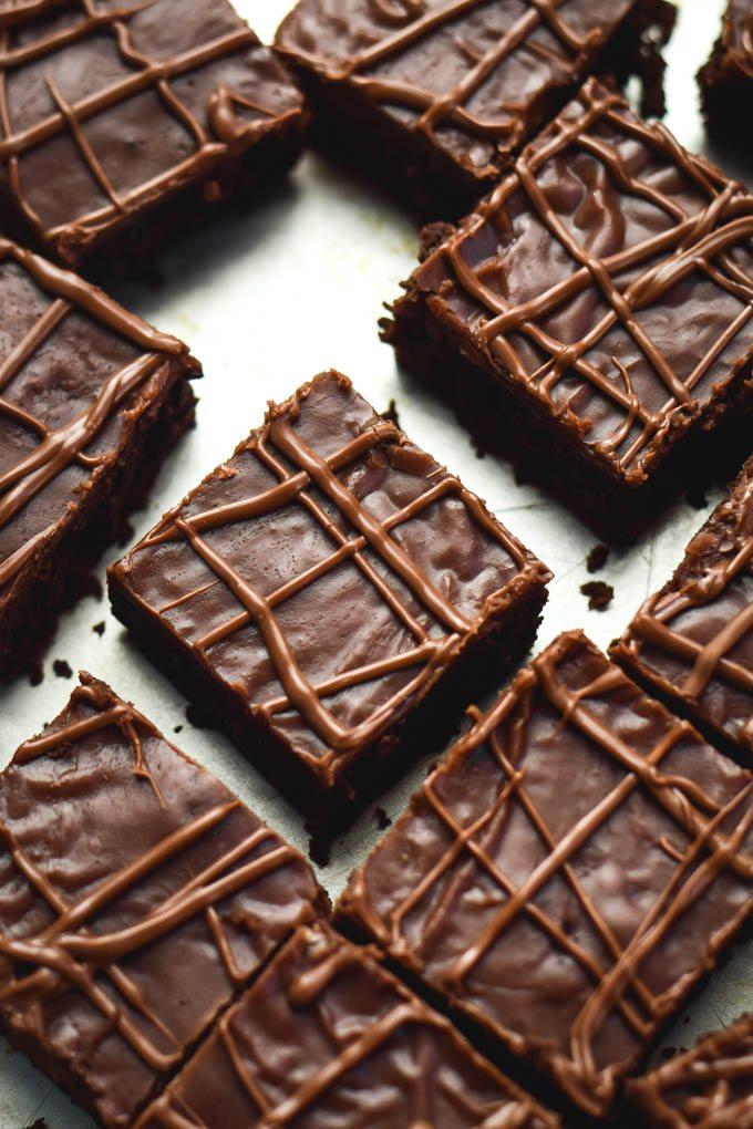 Nutella Fudge Brownies Recipe — Dishmaps