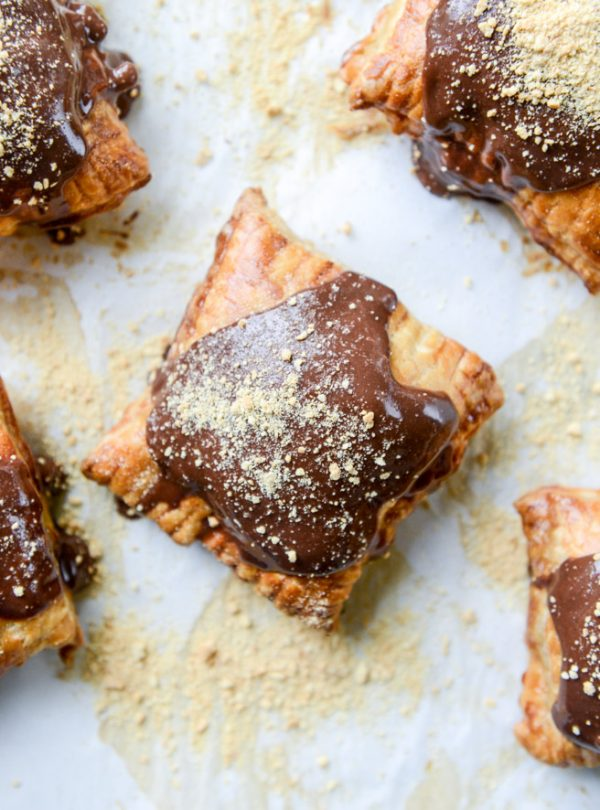 Nutella S'mores Puff Pastry Pop Tarts | Best Nutella recipes and Nutella dessert recipes from @cydconverse