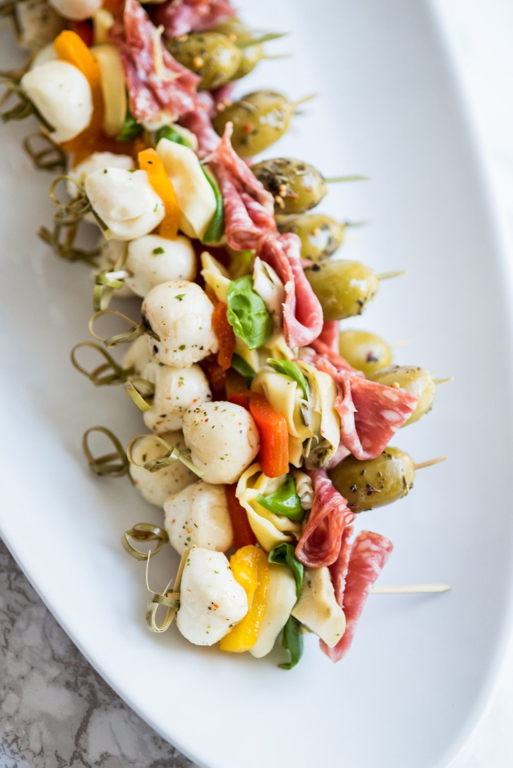 Antipasto Skewers | Party appetizers, entertaining ideas, party ideas, party recipes and more from @cydconverse