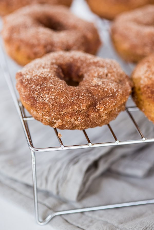 Pumpkin Spice Vegan Donuts with Cinnamon Sugar | Entertaining tips, party ideas, recipes, cocktail recipes and more from @cydconverse