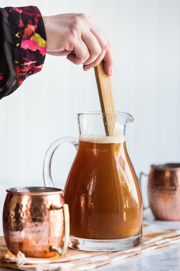 Pumpkin Ale Spiked Cider | Party appetizers, party cocktails, party ideas, party recipes and more from @cydconverse