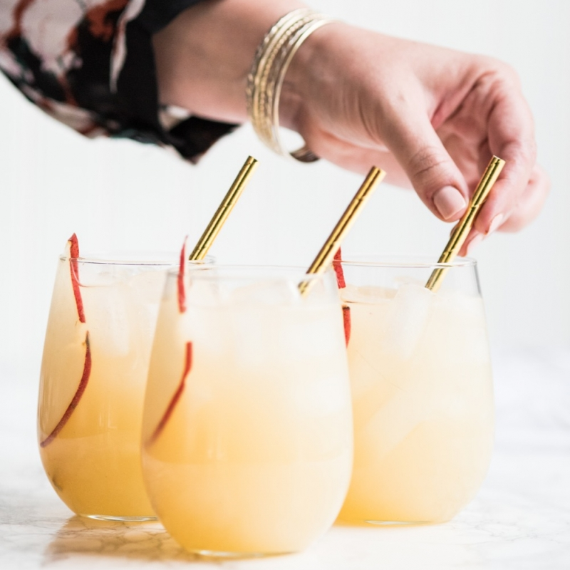 Fizzy Spiked Pear Punch