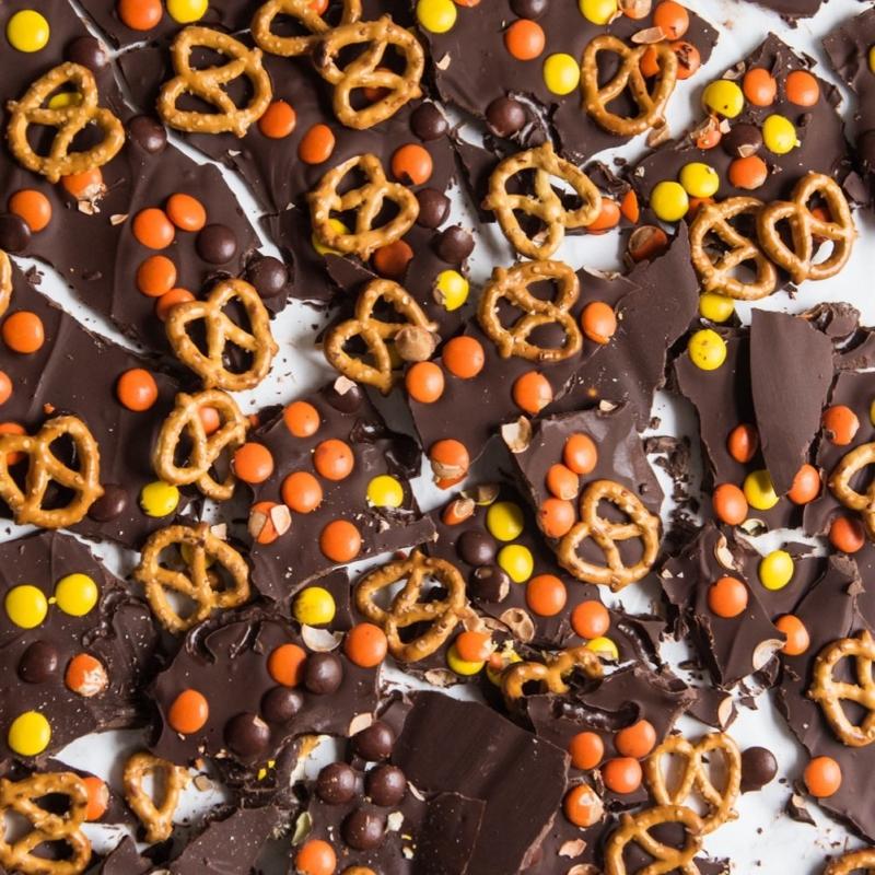 Homemade Halloween Candy Bark