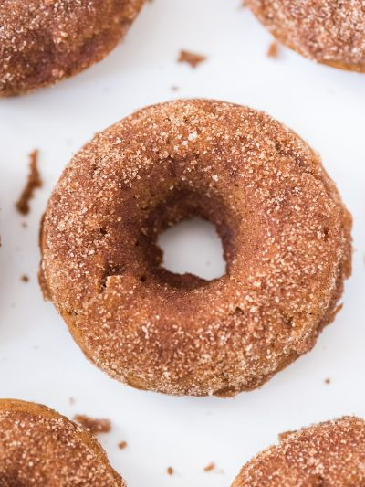 Pumpkin Spice Vegan Donuts with Cinnamon Sugar thumbnail