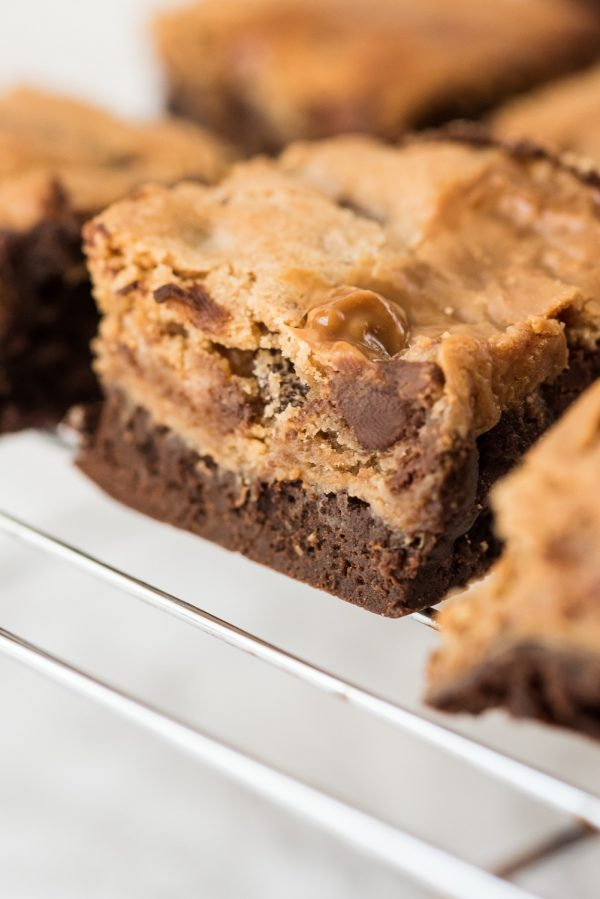 Triple Layer Dulce de Leche Brownie Cookie Bars Recipe from @eaglebrand and @cydconverse | Best fudge recipes, cookie exchange recipes and party ideas!