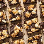 Dark Chocolate Caramel Corn Fudge