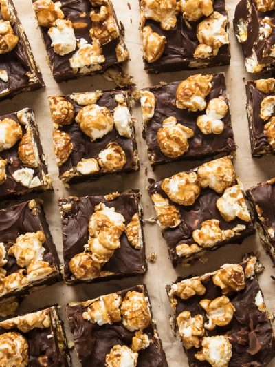 Dark Chocolate Caramel Corn Fudge thumbnail