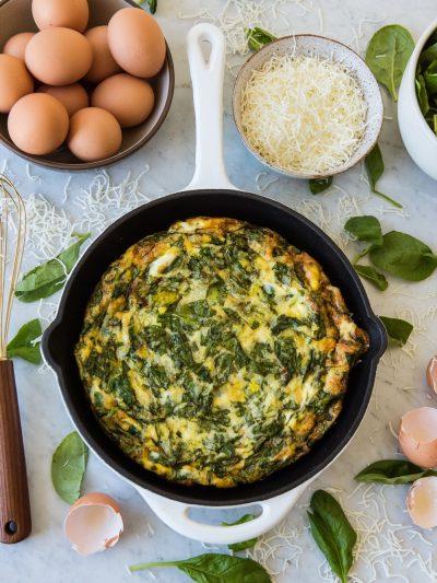 Baked Eggs with Spinach + Mozzarella thumbnail