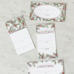 Holiday Pine Printable Gift Tags