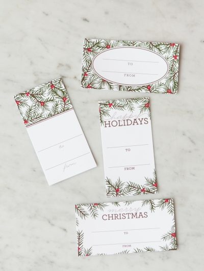 Holiday Pine Printable Gift Tags thumbnail