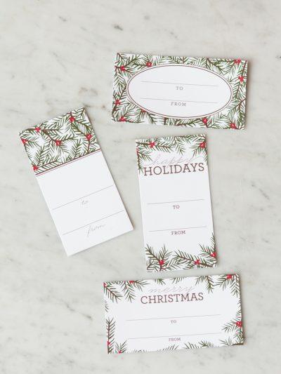 Holiday Pine Printable Gift Tags thumbnail