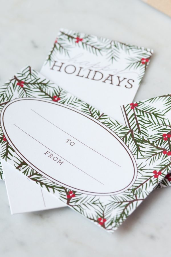 Holiday Pine Printable Gift Tags | Christmas ideas, Christmas printables, entertaining tips and party ideas from @cydconverse