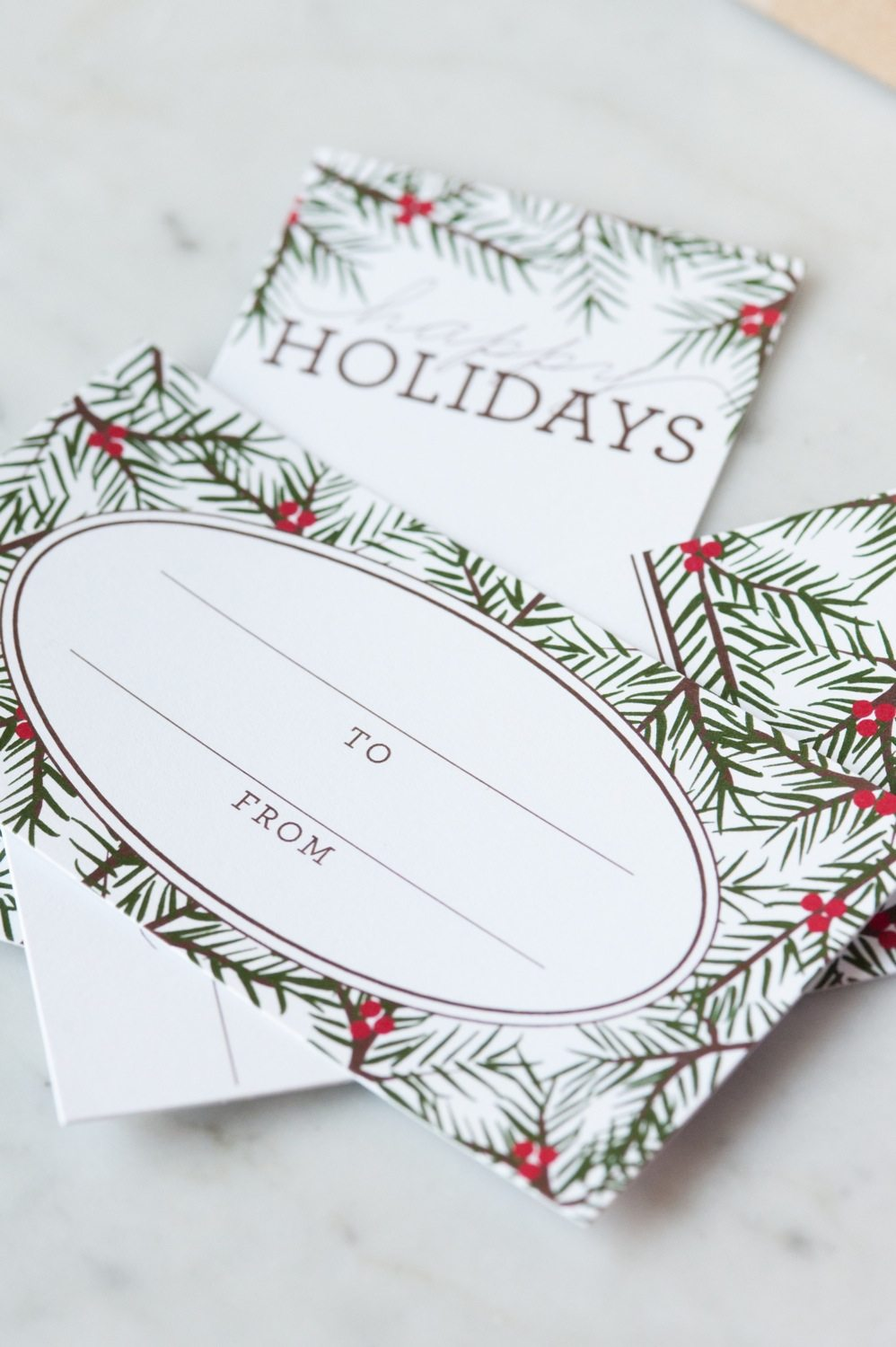 Holiday pine printable gift tags the sweetest occasion make it even simpler on yourself by having them printed by a print shop or office supply store such fedex kinkos staples or officemax where it only costs solutioingenieria Images