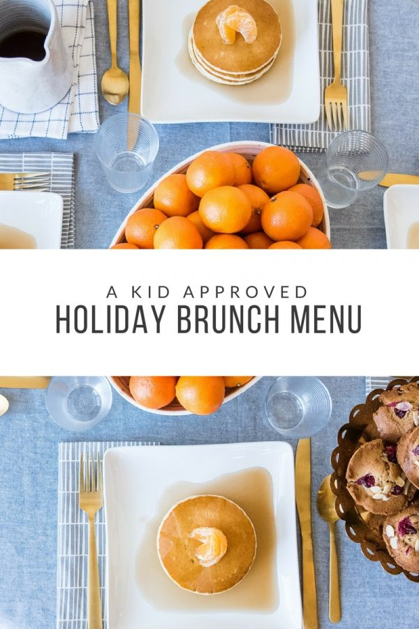 A Kid Approved Holiday Brunch Menu | Brunch ideas, brunch recipes, holiday recipes and more from @cydconverse