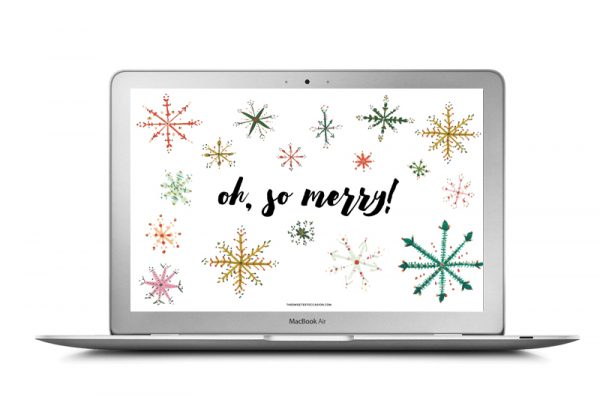 Free Christmas Desktop Backgrounds and Christmas iPhone Wallpaper | Free Christmas printables from @cydconverse