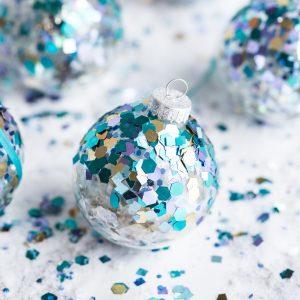 DIY Glitter Confetti Ornaments thumbnail