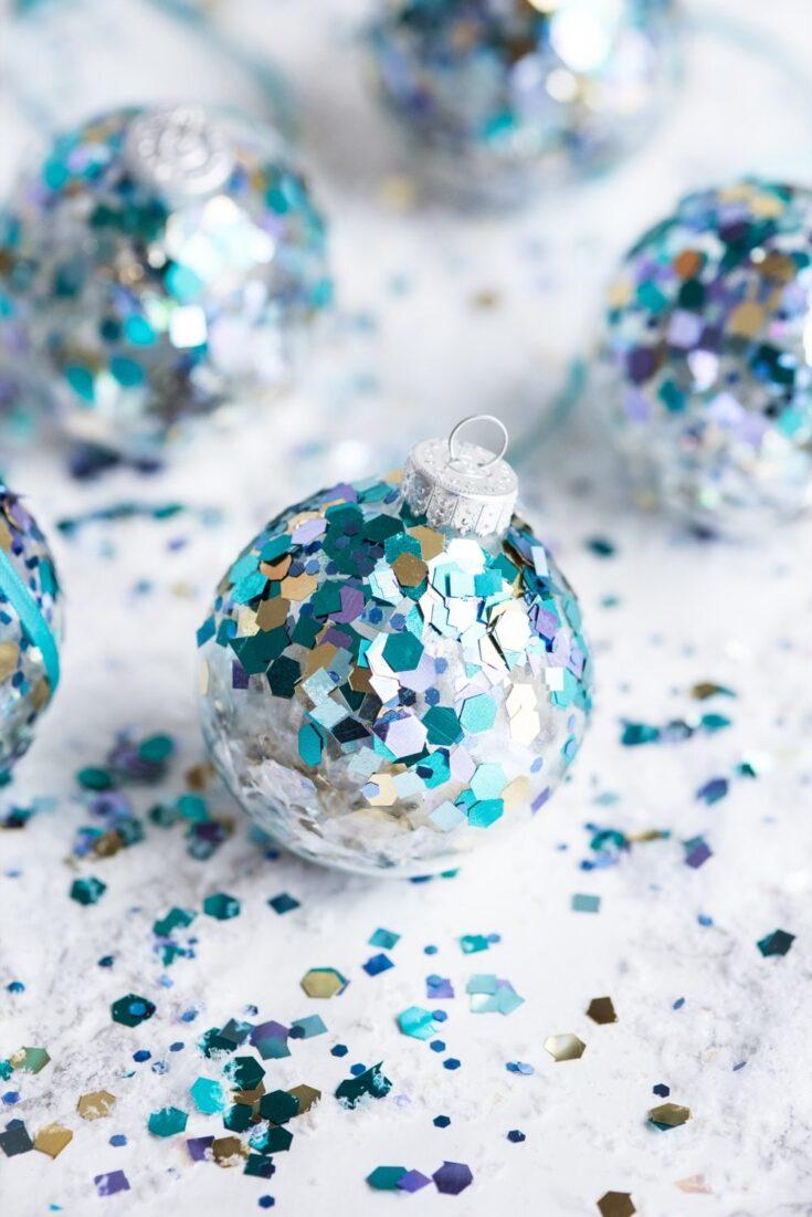 DIY Glitter Confetti Ornaments