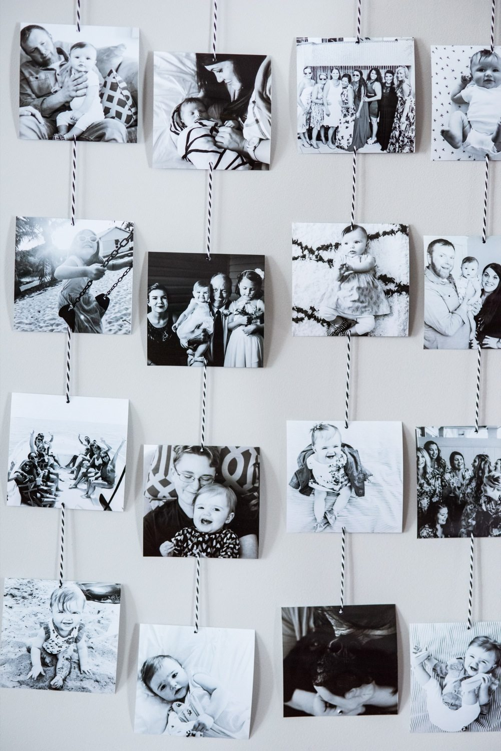 Diy family photo wall hanging the sweetest occasion for Hanging pictures on walls ideas