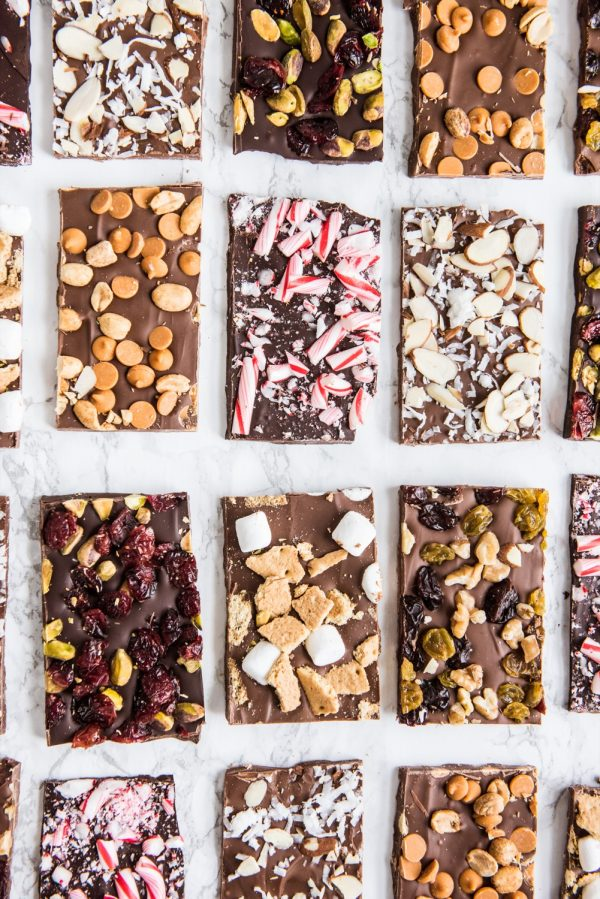 Christmas Chocolate Bark Six Ways