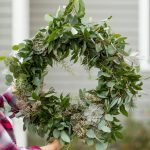 DIY Eucalyptus + Pine Christmas Wreath