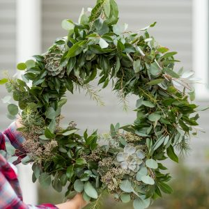 DIY Eucalyptus + Pine Christmas Wreath thumbnail