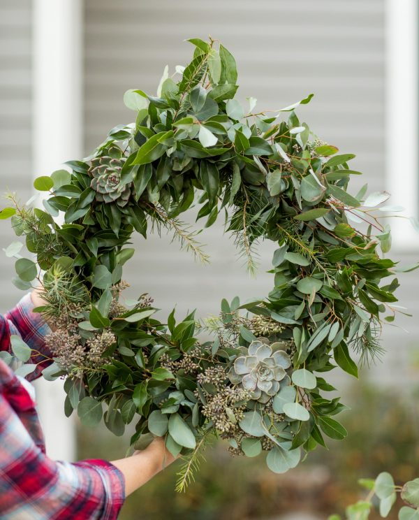 DIY Eucalyptus + Pine Wreath | Homemade Christmas wreath, Christmas DIY ideas and more from @cydconverse