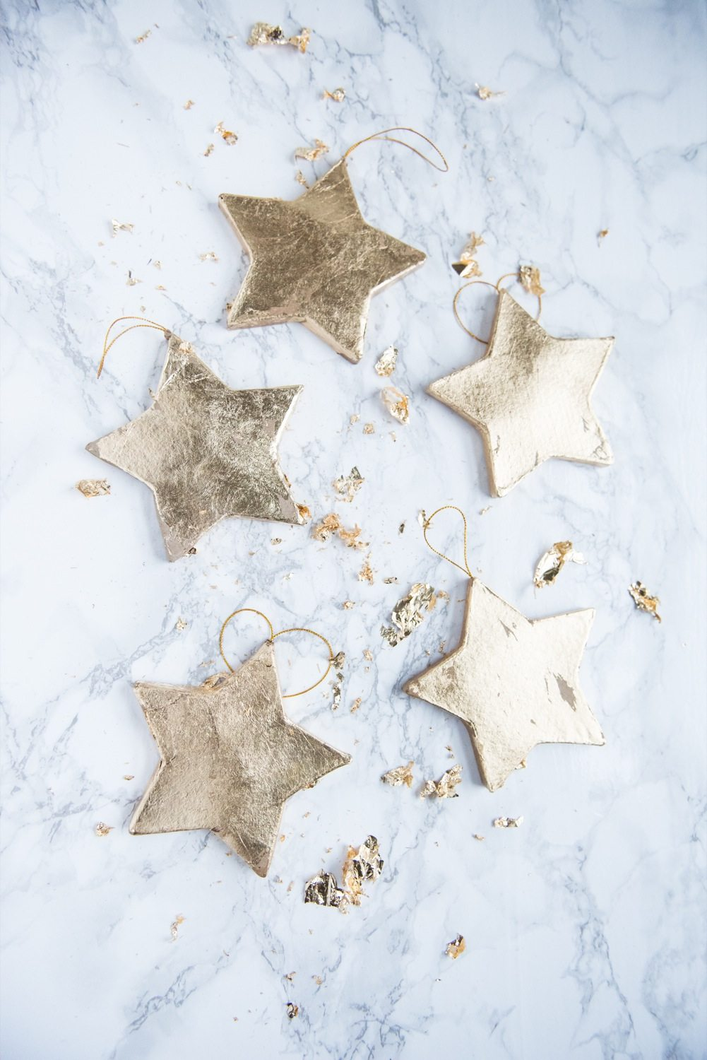 Diy gold leaf star ornaments the sweetest occasion diy gold leaf star ornaments homemade ornaments homemade christmas gifts christmas decor ideas gumiabroncs Image collections