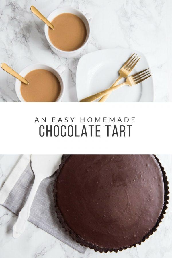 An Easy Chocolate Tart Recipe | Christmas desserts, Christmas recipes, and Christmas party ideas from @cydconverse