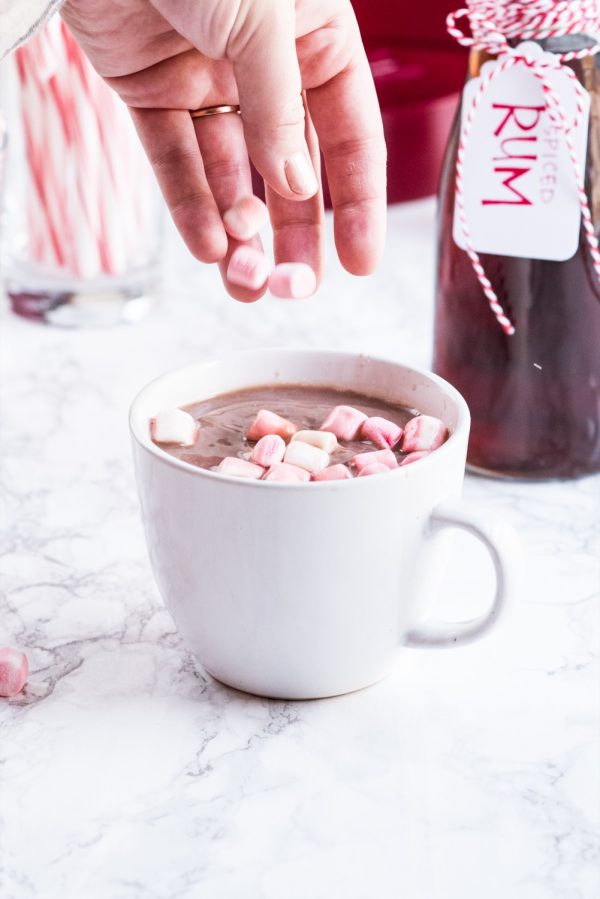 A Spike Your Own Hot Cocoa Station for the Holidays | Christmas party ideas, hot cocoa recipes, Christmas party recipes and more from @cydconverse