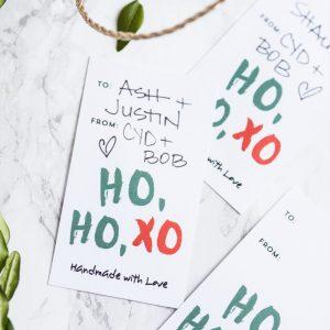 HOHOXO Printable Christmas Gift Tags thumbnail