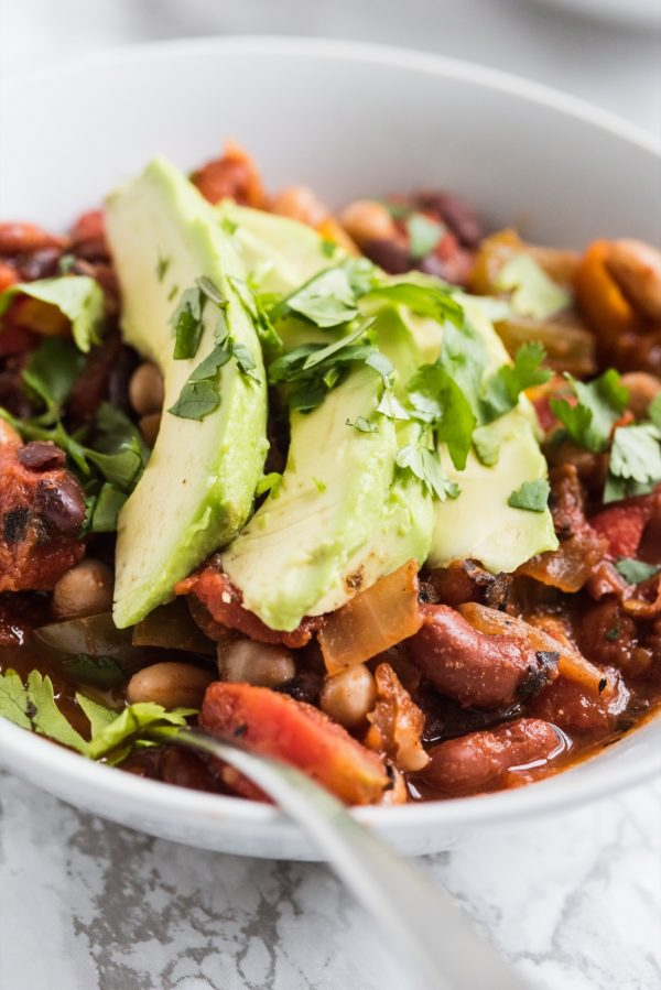 Crowd Favorite Four Bean Veggie Chili The Sweetest Occasion