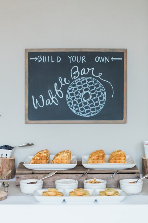 Baby Shower Waffle Bar | Baby shower themes, brunch ideas and more from @cydconverse