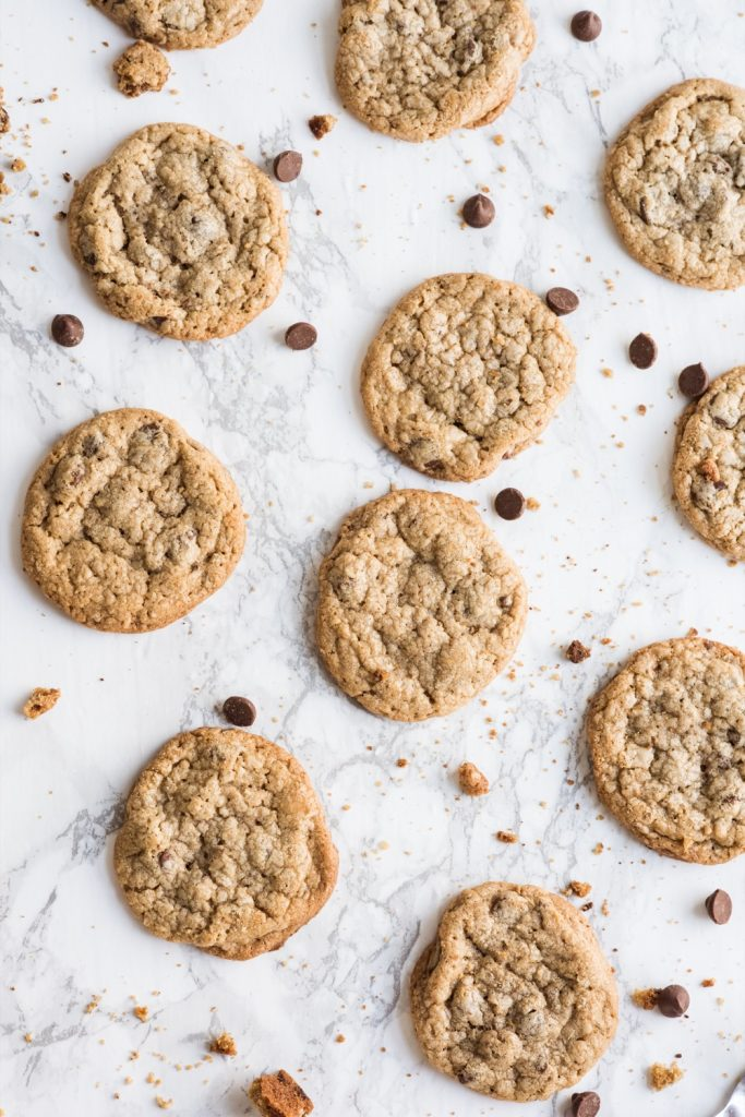 Best Ever Oatmeal Chocolate Chip Cookies Recipe   Entertaining ideas, recipes, cocktail recipes and party ideas from @cydconverse