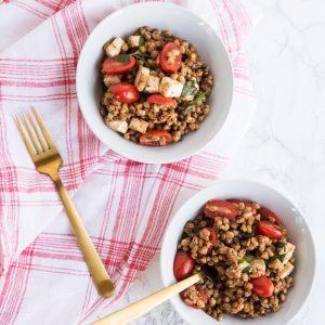 Tomato + Farro Mozzarella Salad thumbnail