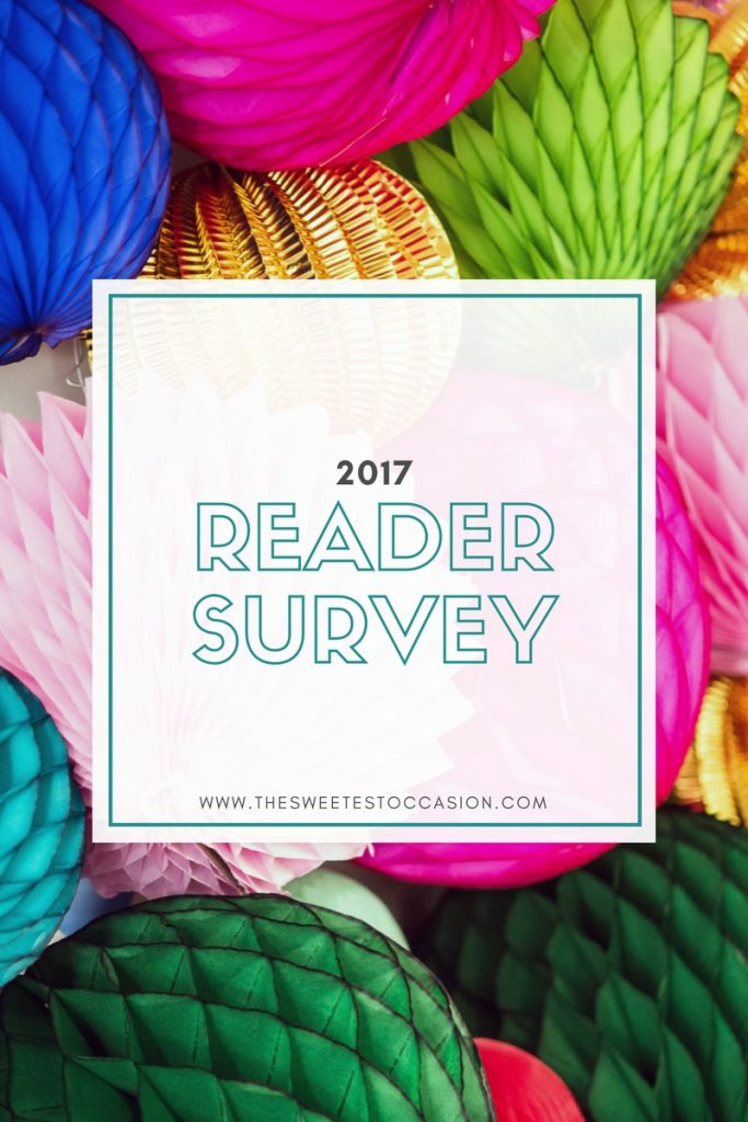 The Sweetest Occasion Reader Survey 2017 | Party ideas, entertaining tips, recipes, party appetizers, cocktail recipes and more from @cydconverse