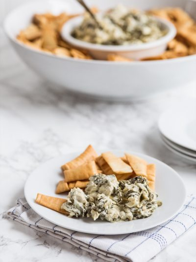 Slow Cooker Spinach Artichoke Dip thumbnail