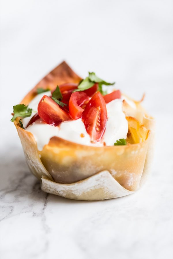 Crunchy Veggie Taco Cups | Super Bowl recipes, party appetizers, entertaining ideas and more from @cydconverse
