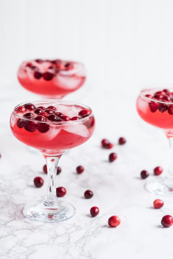 Gingerberry Sparkler | Winter cocktails, champagne cocktails, entertaining ideas, party ideas and more from @cydconverse