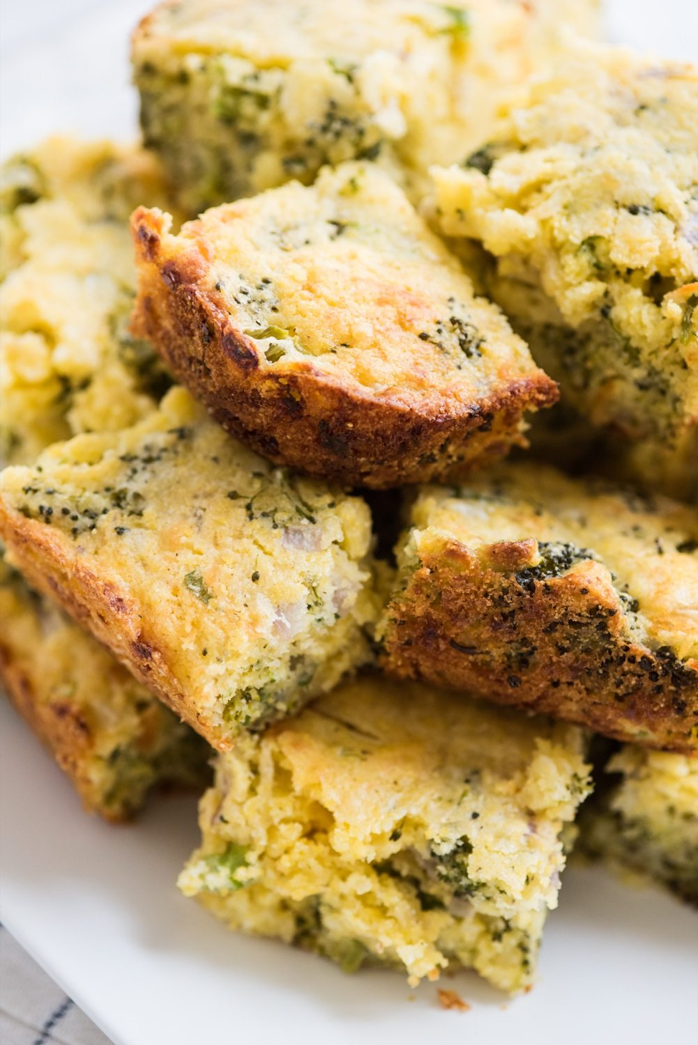 Cheesy Broccoli Cornbread with Jiffy Mix