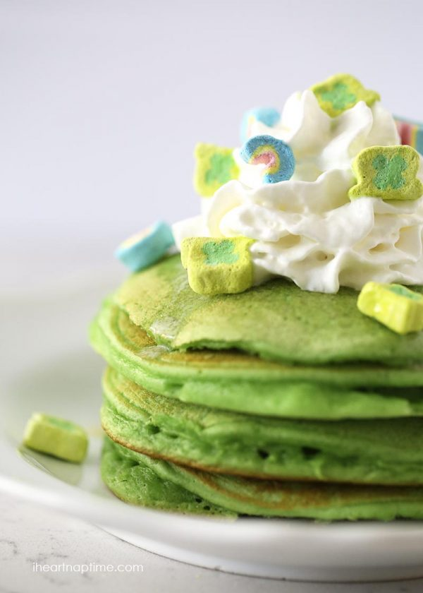 Lucky Charms Pancakes | Lucky Charms recipes, St. Patrick's Day dessert,  St. Patrick's Day ideas and more from @cydconverse