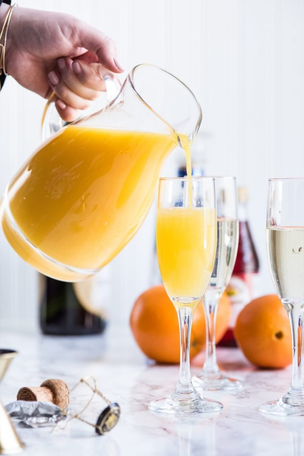 Tequila Sunrise Mimosa Recipe | Mimosa recipes, brunch recipes, Easter recipes, entertaining tips, party ideas and more from @cydconverse