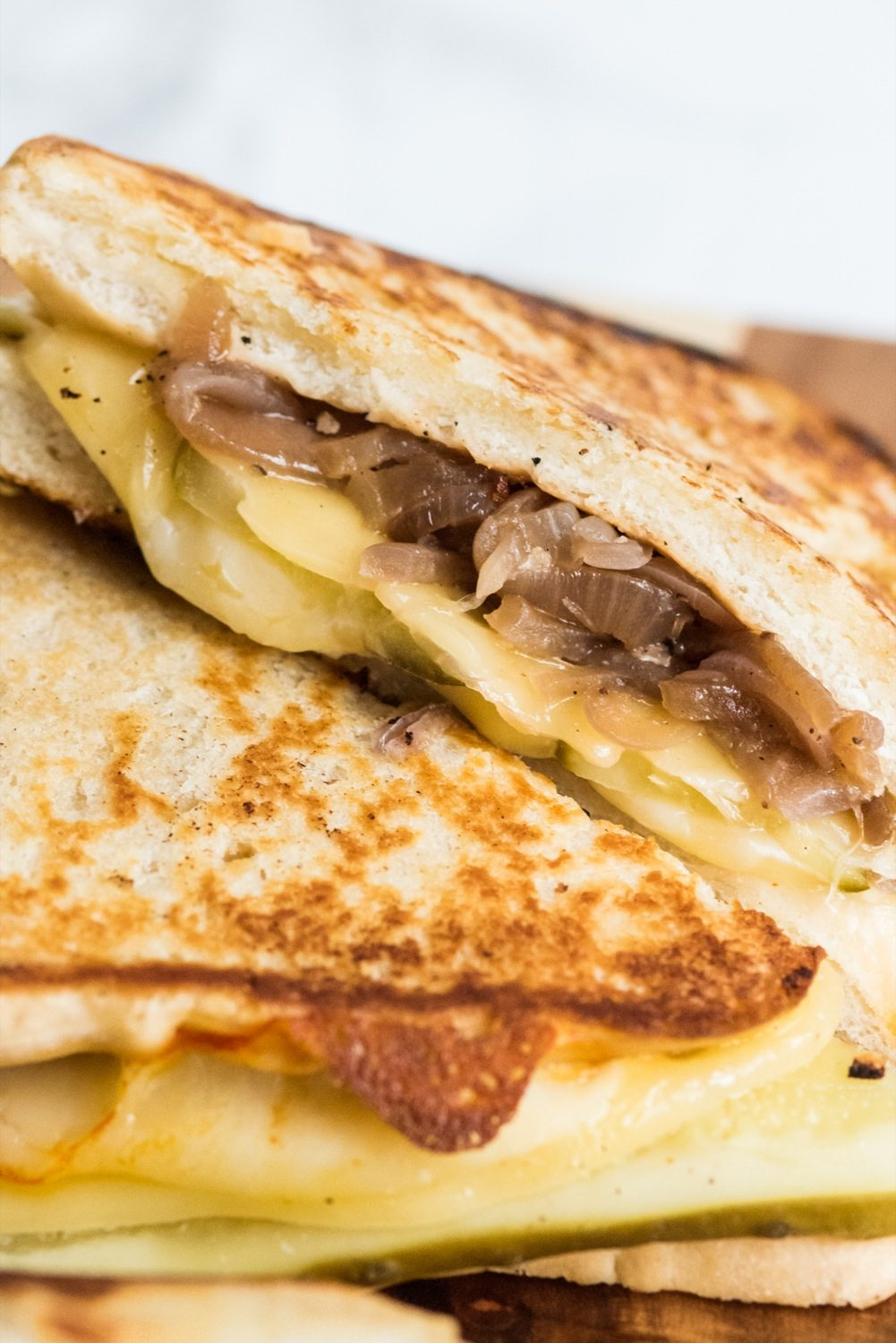 Caramelized Onion Dill Pickle Grilled Cheese - The ...