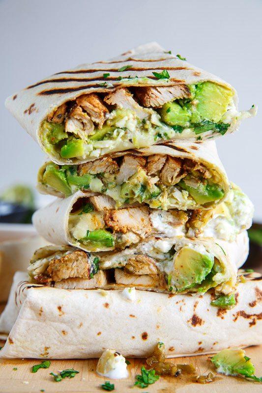 Chicken Avocado Burritos | Friday night dinner ideas, easy dinner recipes, weeknight dinner ideas and more from @cydconverse