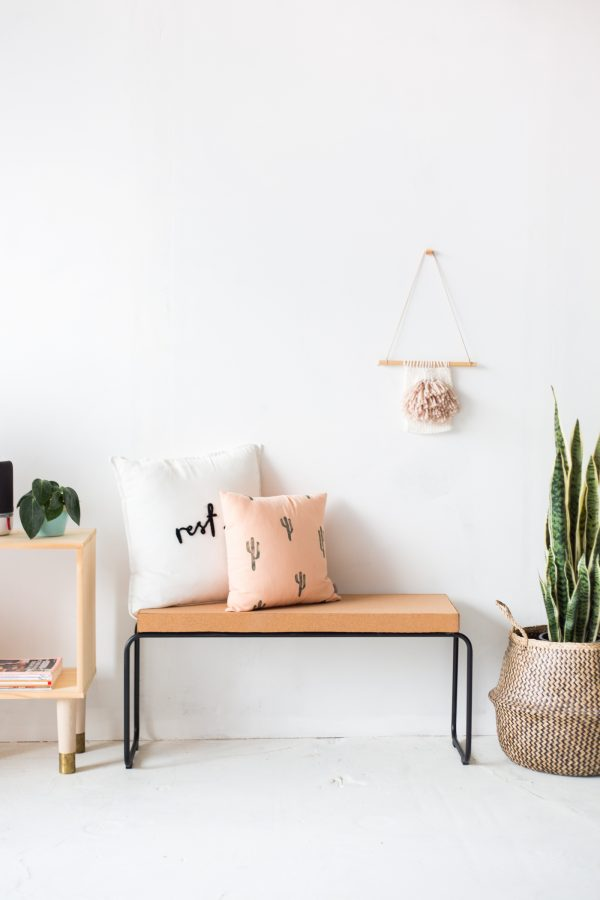 DIY Cork Bench | DIY ideas, spring craft ideas, first day of spring ideas and more from @cydconverse