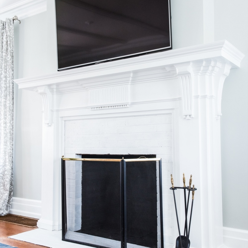 A DIY Fireplace Makeover for Under $30