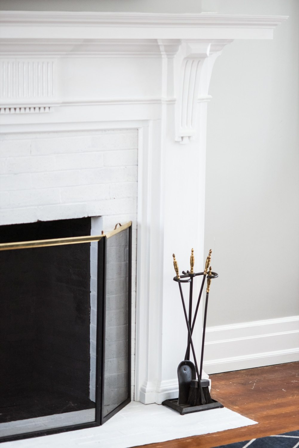 A DIY Fireplace Makeover for Under $30 - The Sweetest Occasion