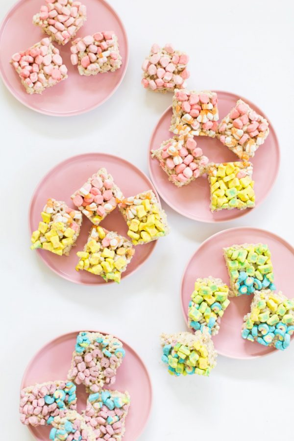 Lucky Charms Cereal Treats | Lucky Charms recipes, St. Patrick's Day dessert,  St. Patrick's Day ideas and more from @cydconverse